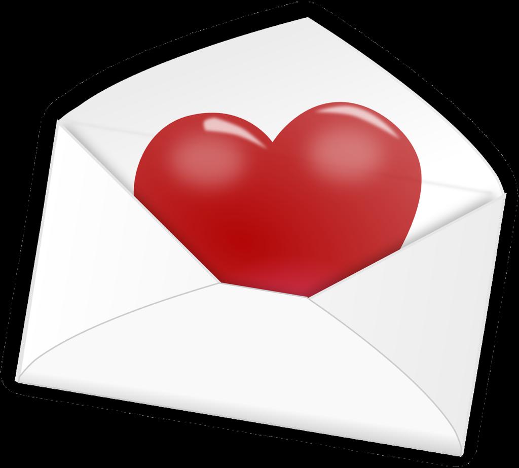 Sobre para carta de amor